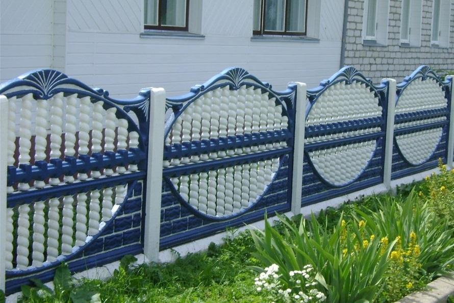 железобетонный забор фото